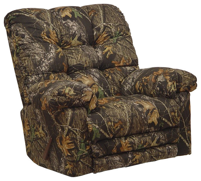 Catnapper Magnum Chaise Rocker Recliner Chair in Mossy Oak transitional-armchairs-and-accent-chairs