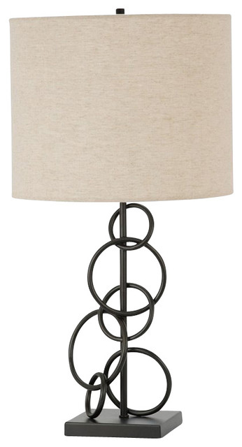 Coaster Ring Design Base Table Lamp in Bronze transitional-table-lamps