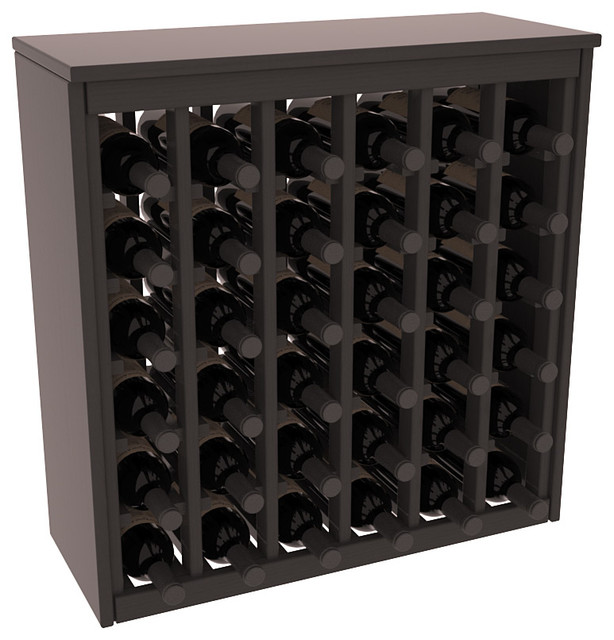 36 Bottle Deluxe in Ponderosa Pine, Black Stain + Satin Finish contemporary-wine-racks
