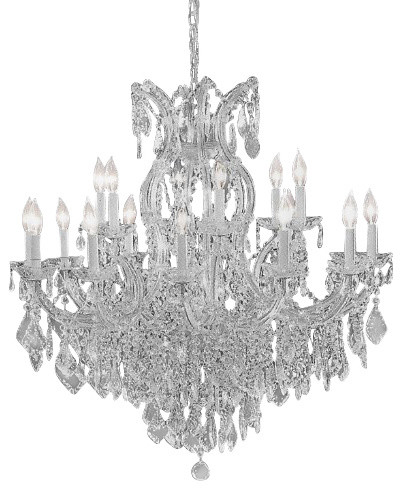 Crystal chandelier with Swarovski crystal traditional-chandeliers