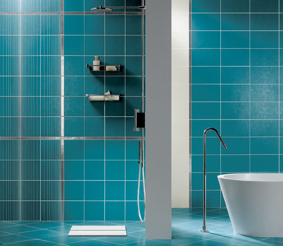 Turquoise contemporary tile other metro by fiandre - Turquoise bathroom floor tiles ...