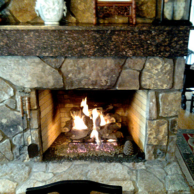 Gas Fireplace in Chattanooga traditional-indoor-fireplaces