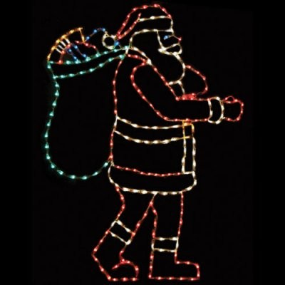 83in. Outdoor Santa with Bag Display - 250 Bulbs modern-outdoor-holiday-decorations