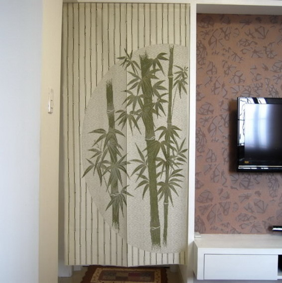 chinese bamboo design door curtain d2942 contemporary