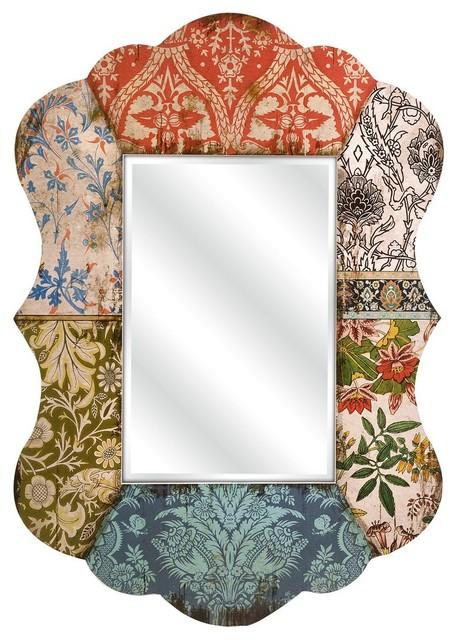 Wallpaper Lamp Shades : Vintage Wallpaper Mirror - Lamp Shades - by Shades of Light