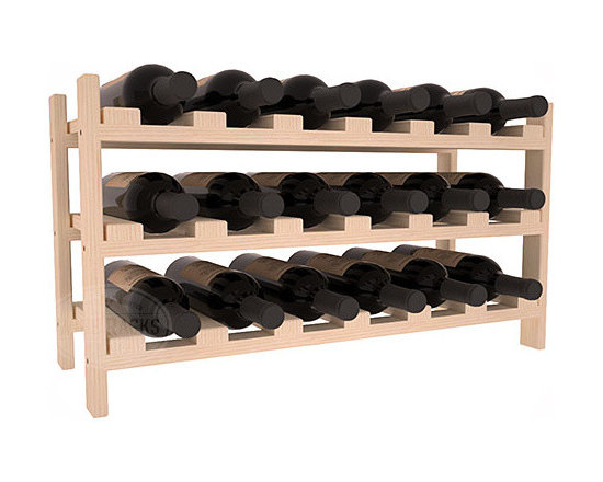 Wine Racks America - 18 Bottle Stackable Wine Rack in Pine - Expansion to the next level! Stack these 18 bottle kits as high as the ceiling or place a single one on a counter top. Designed with emphasis on function and flexibility, these DIY wine racks are perfect for young collections and expert connoisseurs.