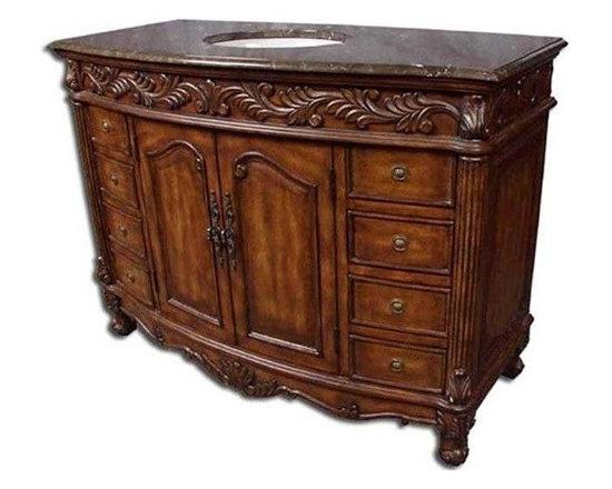 Classic Design Petroc 49in Single Bathroom Vanity - HomeThangs.com - Classic Design Petroc 49in Single Bathroom Vanity Q036
