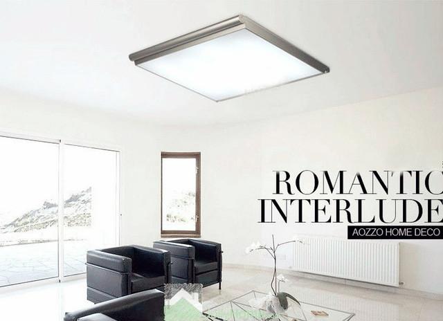 led bedroom white square ceiling lighting modern other. Black Bedroom Furniture Sets. Home Design Ideas