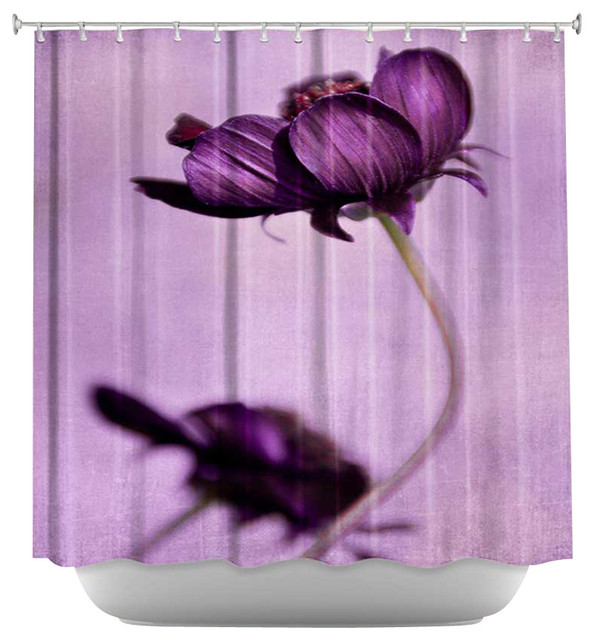 Shower Curtain Artistic - Purple Blossoms contemporary-shower-curtains