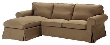 Ektorp Loveseat And Chaise Lounge Contemporary Sectional Sofas By Ikea