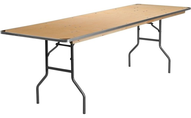 30 X 96 Folding Banquet Table With Metal Edges And Corner Guards Contemporary Furniture