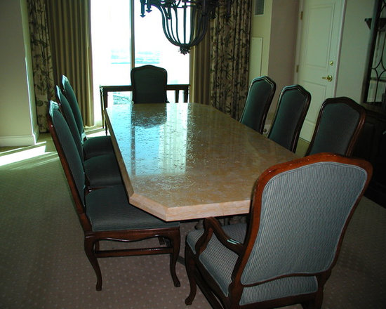 Four Seasons Furniture - Granite Table Seats 8 Chairs sold separately
