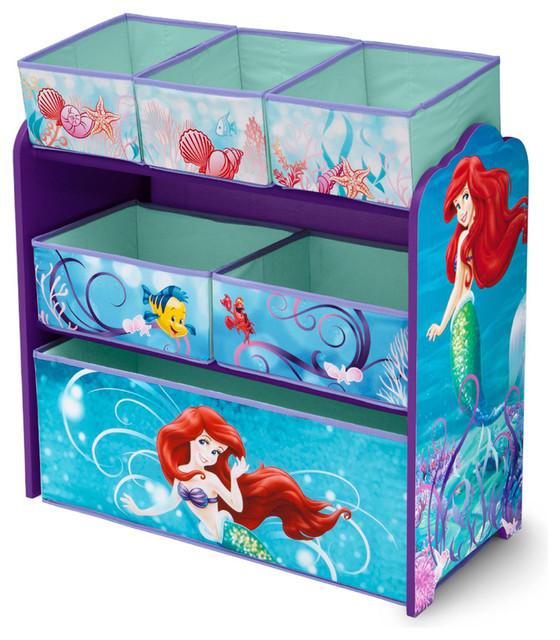 Girls Disney Little Mermaid Blue Multi Bin Toy Book