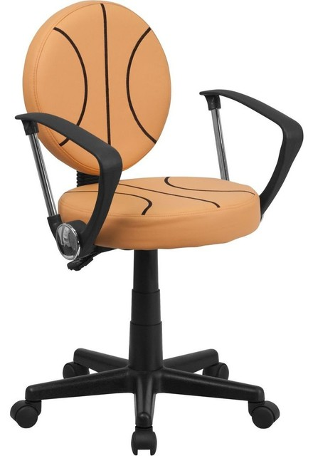 Basketball Task Chair with Arms contemporary-game-room-and-bar-furniture