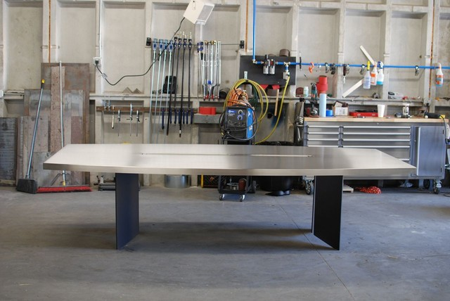 Custom Stainless Steel Dining/Conference Table modern-dining-tables