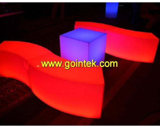 led bench chairs for events -
