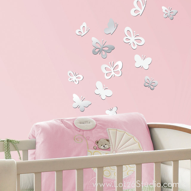 Mirrored wall decals