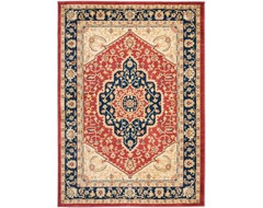 Safavieh Area Rug: Austin Red/Navy 4' x 5.6' contemporary-rugs