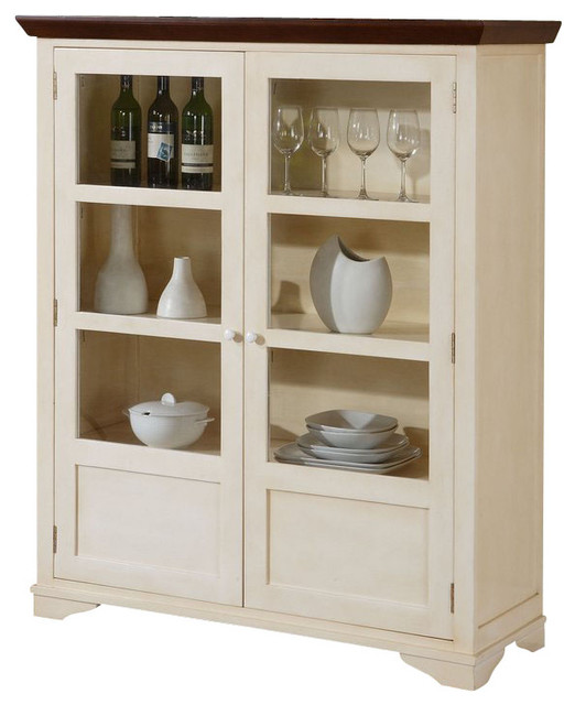 White Sideboards And Buffets: Monarch Specialties Display Server In Antique White