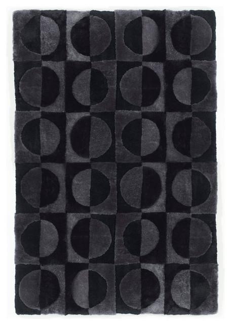 Shearling Basics Circles Area Rug, 4' x 6' contemporary-rugs