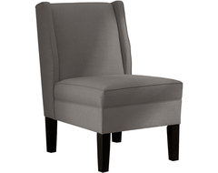 Velvet & Clover Upholstered Armless Wingback Chair traditional-accent-chairs