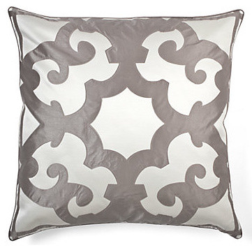 "Bukhara Pillow 24"" - Charcoal & White modern-bed-pillows"