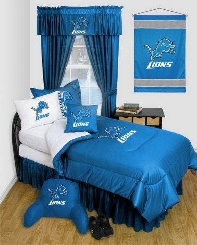 Detroit Lions Nfl Locker Room Complete Bedroom Package