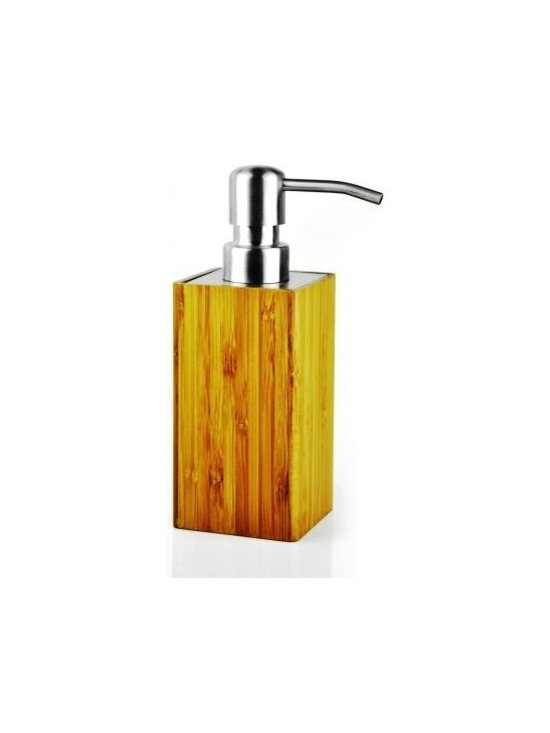 Imported - Bamboo Lotion Dispenser In Mediterranean Style - Bamboo bathroom accessories of Mediterranean Design Collection
