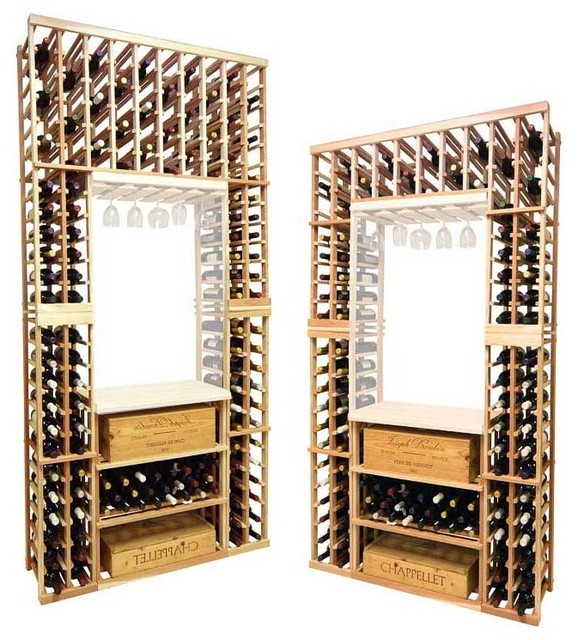 Vintner Series - Individual Bottle with Lower Case Rack traditional-wine-racks
