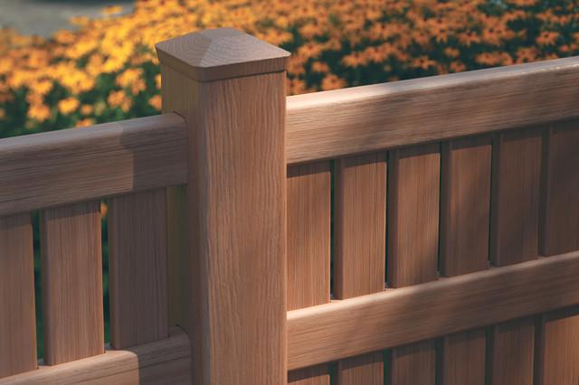 Bufftech Imperial Select Cedar Semi Private Vinyl Fence