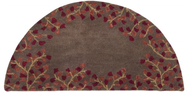"Contemporary Athena Hearth 2'0""x4' Hearth Chocolate-Ruby  Area Rug contemporary-rugs"