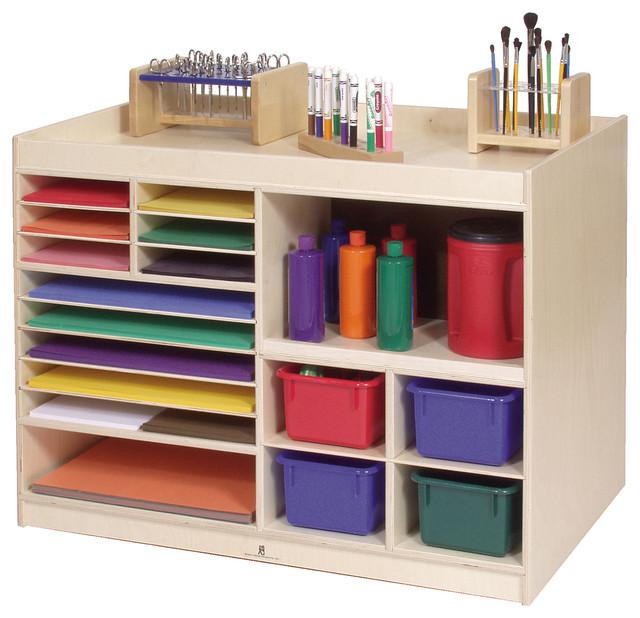 Steffywood Mobile Kids Child Art Paint Storage Cabinet Shelf Table Centre - Contemporary - Kids ...