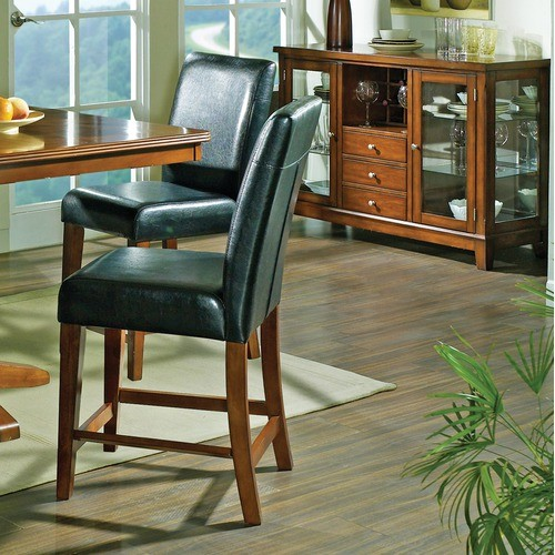 Plato Counter Height Dining Chair in Multi-Step Dark Oak (Set of 2) modern-dining-chairs
