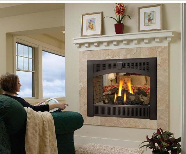Lopi Hearthview 864 See Thru Greensmart Gas Fireplace