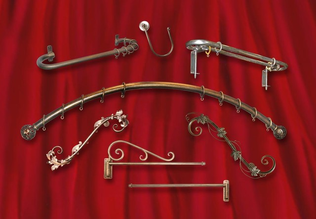 Priscilla's Specialty Drapery Hardware - Eclectic - Curtain Rods - san ...