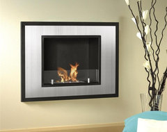 Bellezza Mini Wall Mount or Recessed Bio Ethanol Fireplace contemporary-fireplaces