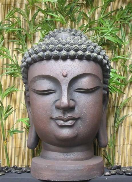 23 Buddha Head Outdoor Garden Statuary Statues