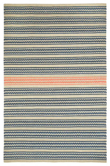 Dokka Stripe rug in Stone Salmon rugs