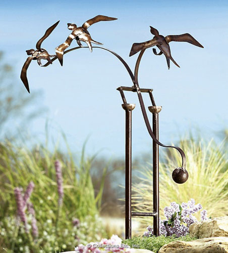 Birds in Flight eclectic garden sculptures