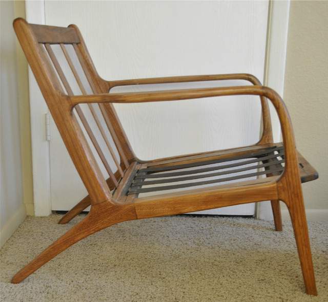 Danish mid century teak lounge chair modern chairs