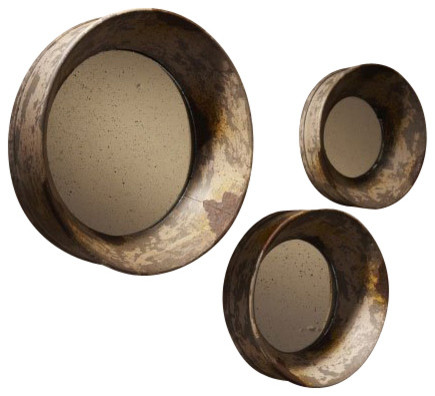 Twos Company Davis Traditional Round Wall Mirror wall-mirrors