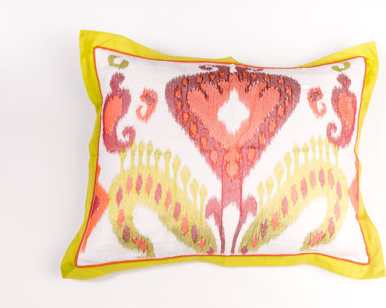 Filling Spaces - Pillows - Bring an eclectic flourish to your spaces,with this beautiful Ikat design on Line base.