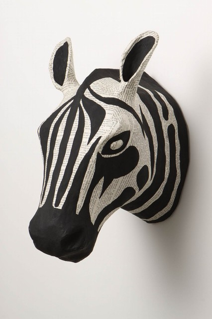 Savannah Story Bust, Zebra-Anthropologie.com eclectic artwork