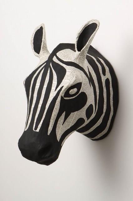 Savannah Story Bust, Zebra-Anthropologie.com eclectic-artwork