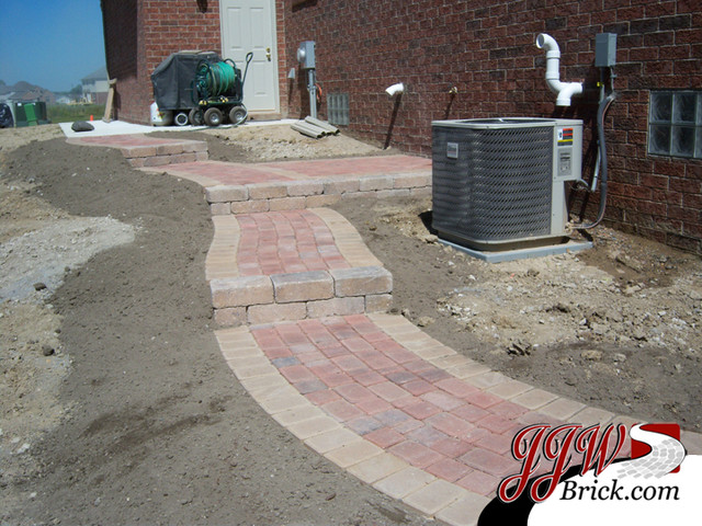paver walkway design ideas contemporary detroit by jjw