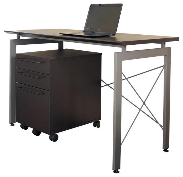 Tribeca Study Desk In Espresso 210 Esp Contemporary