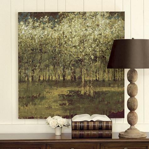 "Birch Grove Giclee Print - 41"" x 41"" contemporary-artwork"