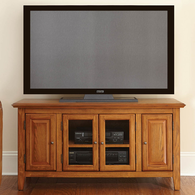 """Clairmont 48"""" TV Cabinet, Oak - Modern - Entertainment Centers And Tv Stands"""