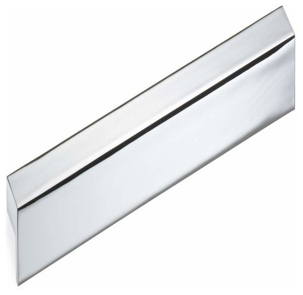 Schwinn Hardware 192mm ctc Large Edge Pull, Polished Chrome - Contemporary - Cabinet And Drawer ...