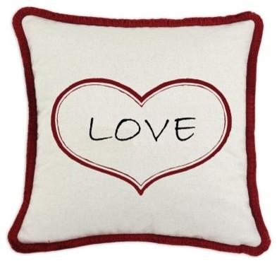 D'Kei Valentines Graphic Pillow Love modern-decorative-pillows